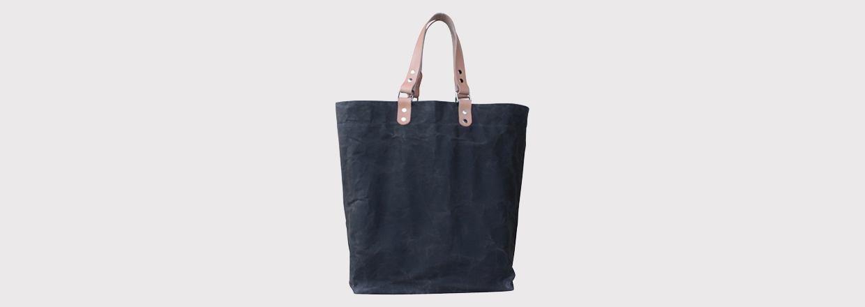 Shopper taske i skind